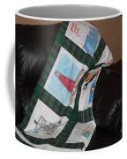 Quilt Newfoundland Tartan Green Posts Coffee Mug by Barbara Griffin