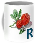 R Art Alphabet For Kids Room Coffee Mug by Irina Sztukowski