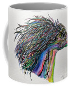 Racing The Wind ... A Story Painting Coffee Mug by Eloise Schneider