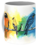 Rainbow Birds Coffee Mug by Antony Galbraith