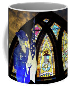 Recollection Union Soldier Stained Glass Window Digital Art Coffee Mug by Thomas Woolworth
