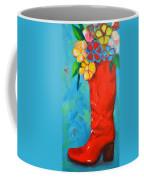 Red Boot With Flowers Coffee Mug by Patricia Awapara
