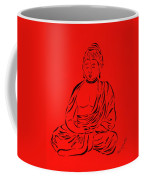 Red Buddha Coffee Mug by Pamela Allegretto