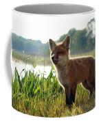 Red Fox Kit Coffee Mug by Olivier Le Queinec