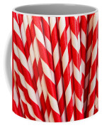 Red Paper Straws Coffee Mug by Edward Fielding