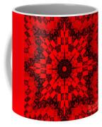 Red Patchwork Art Coffee Mug by Barbara Griffin