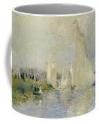 Regatta At Argenteuil Coffee Mug by Pierre Auguste Renoir