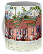 Robert's Cottages Oceanside Coffee Mug by Mary Helmreich