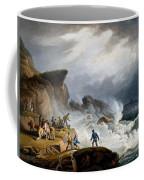 Robin Hoods Bay, Yorkshire, 1825 Coffee Mug by Francis Nicholson