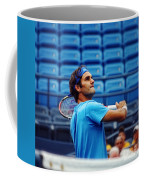 Roger Federer  Coffee Mug by Nishanth Gopinathan