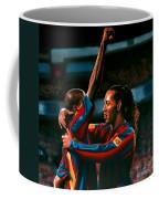 Ronaldinho And Eto'o Coffee Mug by Paul Meijering