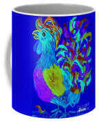 Rooster Blues Coffee Mug by Eloise Schneider