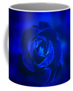 Rose In Blue Coffee Mug by Sandy Keeton