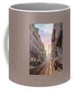 Rue Saint Dominique Sunset Through Eiffel Tower   Coffee Mug by Irina Sztukowski
