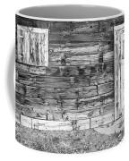 Rustic Old Colorado Barn Door And Window Bw Coffee Mug by James BO  Insogna