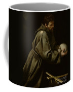 Saint Francis In Meditation Coffee Mug by Michelangelo Merisi da Caravaggio