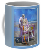 Sam Enjoys The Beach -- Again Coffee Mug by Betsy Knapp