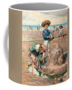 Sand Castles At The Beach Coffee Mug by Unknown