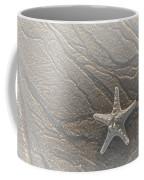 Sand Prints And Starfish II Coffee Mug by Susan Candelario