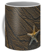 Sand Prints And Starfish  Coffee Mug by Susan Candelario