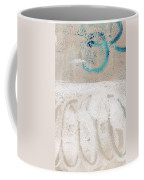 Sandcastles- Abstract Painting Coffee Mug by Linda Woods