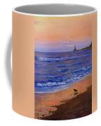 Sandpiper At Sunset Coffee Mug by C Steele