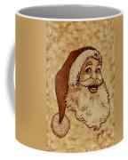 Santa Claus Joyful Face Coffee Mug by Georgeta  Blanaru