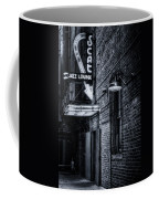 Scat Lounge In Cool Black And White Coffee Mug by Joan Carroll