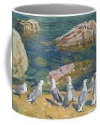 Seagulls Coffee Mug by Arkadij Aleksandrovic Rylov