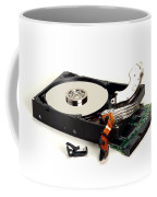 Seriously Crashed Hard Drive Coffee Mug by Olivier Le Queinec