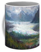 Shifting Light - Matanuska Glacier Coffee Mug by Talya Johnson