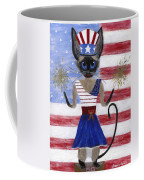 Siamese Queen Of The U S A Coffee Mug by Jamie Frier