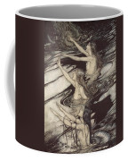 Siegfried Siegfried Our Warning Is True Flee Oh Flee From The Curse Coffee Mug by Arthur Rackham