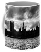 Silhouette Of  Palace Of Westminster And The Big Ben Coffee Mug by Semmick Photo