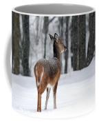 Snowy White-tail Coffee Mug by Christina Rollo