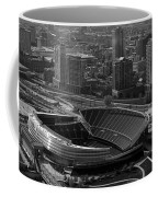 Soldier Field Chicago Sports 05 Black And White Coffee Mug by Thomas Woolworth