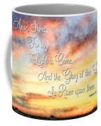 Southern Sunset - Digital Paint IIi With Verse Coffee Mug by Debbie Portwood