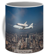 Space Shuttle Endeavour Over Houston Texas Coffee Mug by Movie Poster Prints