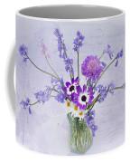 Spring Flowers In A Jam Jar Coffee Mug by Ann Garrett