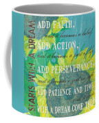 Starts With A Dream Coffee Mug by Debbie DeWitt