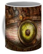 Steampunk - Creepy - Eye On Technology  Coffee Mug by Mike Savad