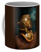 Steampunk - Diving - The Diving Helmet Coffee Mug by Mike Savad