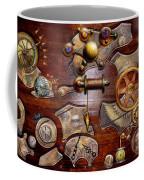 Steampunk - Gears - Reverse Engineering Coffee Mug by Mike Savad