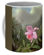 Still Life With An Orchid And A Pair Of Hummingbirds Coffee Mug by Martin Johnson Heade