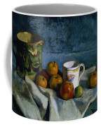 Still Life With Apples Cup And Pitcher Coffee Mug by Paul Cezanne