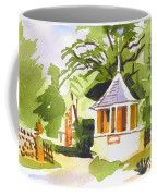 Stone Gazebo At The Maples Coffee Mug by Kip DeVore