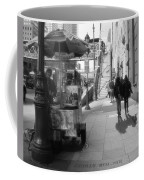 Street Vendor And Stairs In New York City Coffee Mug by Dan Sproul
