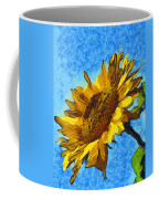 Sunflower Abstract Coffee Mug by Unknown