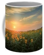 Sunflower Sundown Coffee Mug by Bill Wakeley