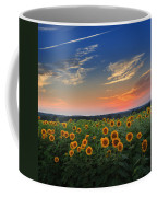 Sunflowers In The Evening Coffee Mug by Bill Wakeley